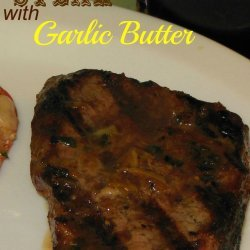 Grilled Steak With Garlic Butter