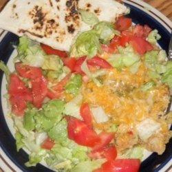 New Mexico Green Chile Chicken Enchilada Casserole