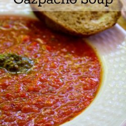 Gazpacho with Roasted Peppers