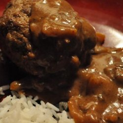 German Meat Balls With Bell Pepper Sauce - Hackfleisch Kuechle