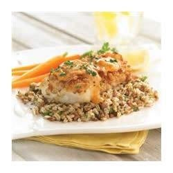 Pretzel Crusted Cod with Apricot Dijon Sauce recipe