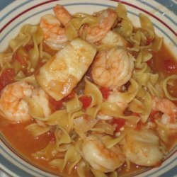 Shrimp and Scallops With Pasta.