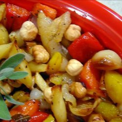 Honey Roasted Vegetables With Macadamia Nuts