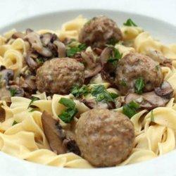 Meatballs  With  Mushroom  Gravy