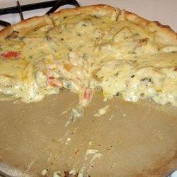 Nikki's Chicken and Spinach Alfredo Pizza