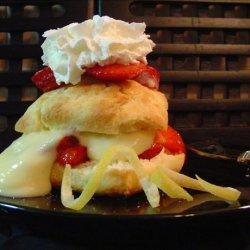 Strawberry Lemon Custard Shortcake