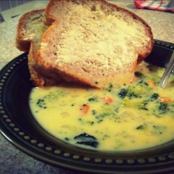 Broccoli Soup with Cheddar Crust