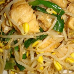 Tofu and Bean Sprouts