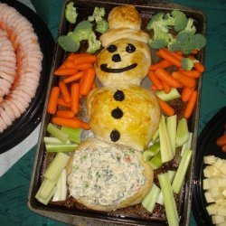 Christmas Snowman Bread for Dip