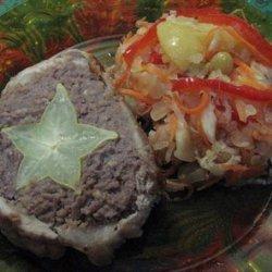 Meatloaf With Pork & Star Fruit recipe