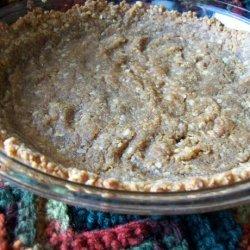 Peanut Butter Cookie Crumbs Pie Crust