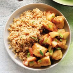 Curried Couscous With Chicken and Almonds