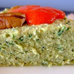Herb-Green Ricotta Pate With Sweet-Pepper Sauce