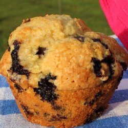 Flax Blueberry Muffins