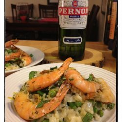 Spring Vegetable Risotto With Shrimp