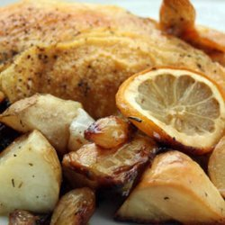Roasted Chicken With Potatoes and Olives