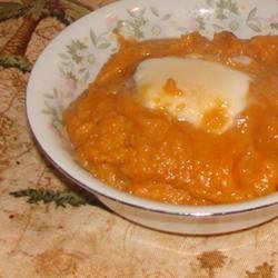 Whipped Sweet Potatoes with Pears