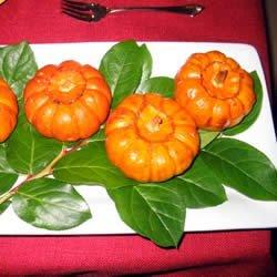 Baked Miniature Pumpkins