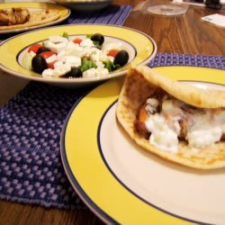 Greek Chicken Pitas