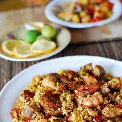 Sausage & Shrimp Paella