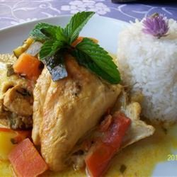 Coconut Milk and Chicken Stew