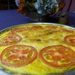 Corn Quiche in a Tef Crust recipe