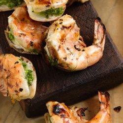 Jumbo Shrimp Stuffed With Cilantro & Chiles