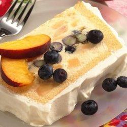 Ice Cream and Berry Cake