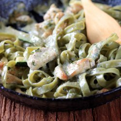 Creamed Spinach Fettuccine