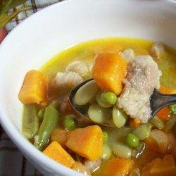 Sweet Potato and Pork Soup