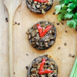 Basic Stuffed Portobello Mushrooms recipe