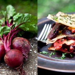 Lasagna With Roasted Beets and Herb Béchamel
