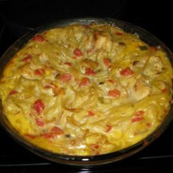 Cheesy Mushroom Chicken Spaghetti