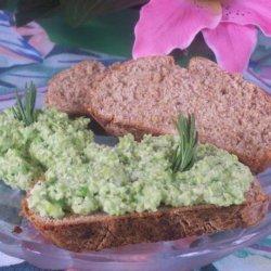Rosemary Soda Bread With Edamame and Pea Hummus