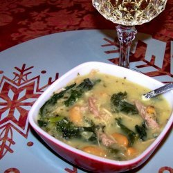 Left-Over Kale, Bean and Potato Soup