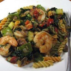 Rotini Primavera With Shrimp