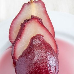 Red Wine Pear Dessert