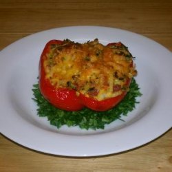 Stuffed Red Peppers With Hash Browns