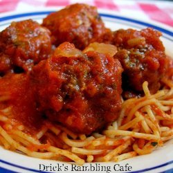 Meatballs and Red Gravy