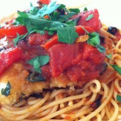 Chicken Cutlets & Spaghetti With Peppers & Onions