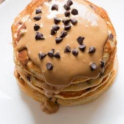 Chocolate Peanut Butter Chocolate Chip Pancakes