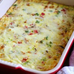 Sausage and Cheese Egg Bake
