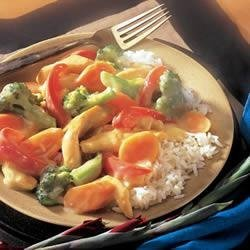 Creamy Chicken Stir-Fry recipe