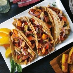 Sour Citrus Pork Tacos with Caramelized Root Vegetables recipe
