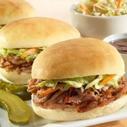 Sister Schubert's(R) Barbecue Pulled Pork or Chicken Mini-Sliders