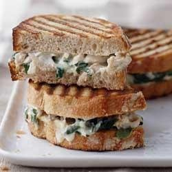 Alfredo Florentine Chicken Panini recipe