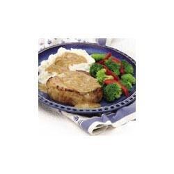 Pork Chops and Mustard Onion Gravy recipe