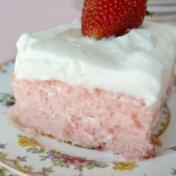 Frosted Strawberry Sheet Cake