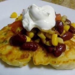 Corn-N-Scallion Sourdough Pancakes