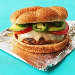 Cilantro Turkey Burgers With Pepper Jack Cheese and Avocado